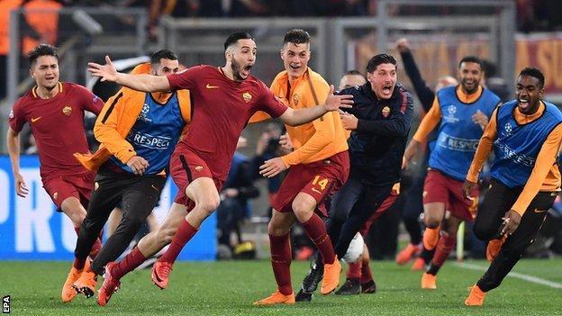 Kostas Manolas posle gola protiv Barselone