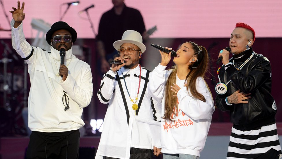 Ariana Grande with the Black Eyed Peas