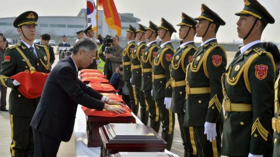 2016年,朝鮮戰爭結束逾六十年後,36名在韓國陣亡中國士兵的遺骸將被運返歸國。