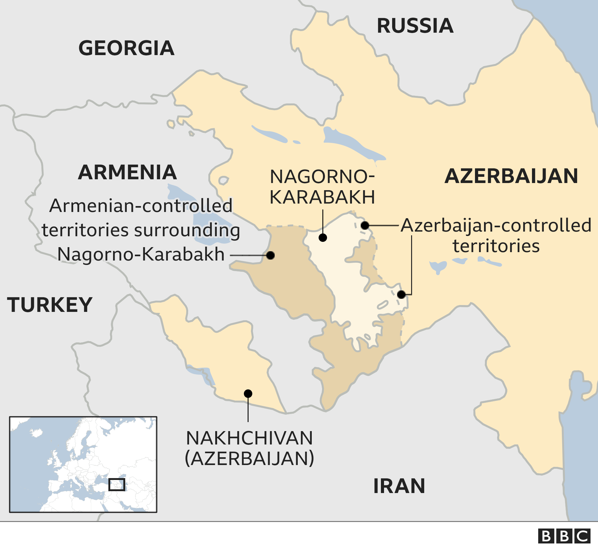 Nagorno-Karabakh: Armenia and Azerbaijan shaky ceasefire in force thumbnail