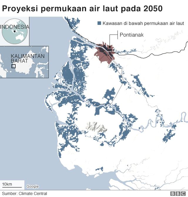Proyeksi permukaan air laut pada 2020