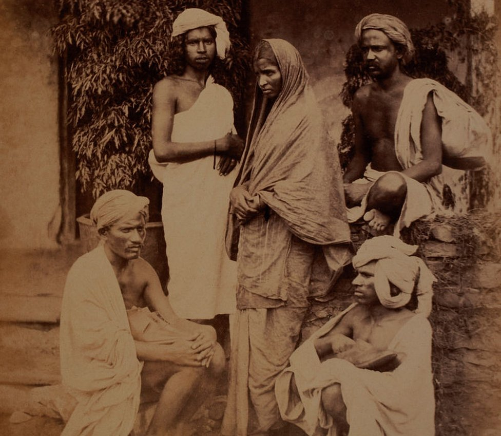Group of Untouchables, India, circa 1890