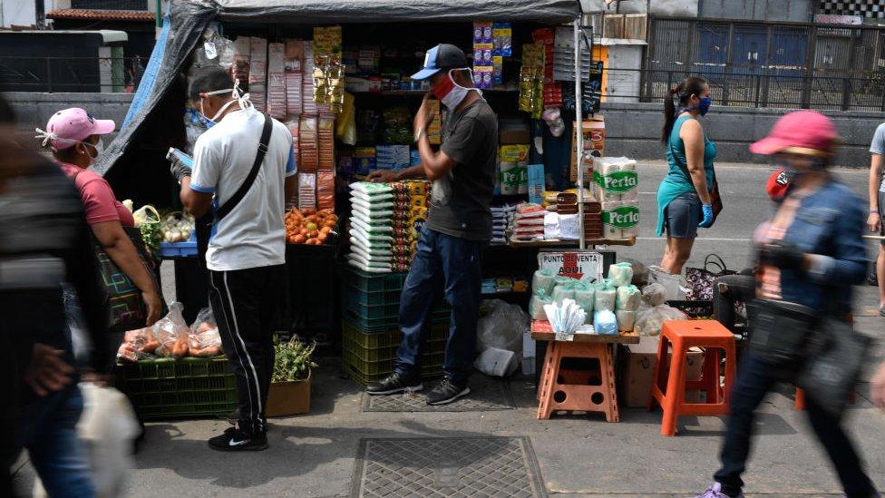 Buhonero en Venezuela.