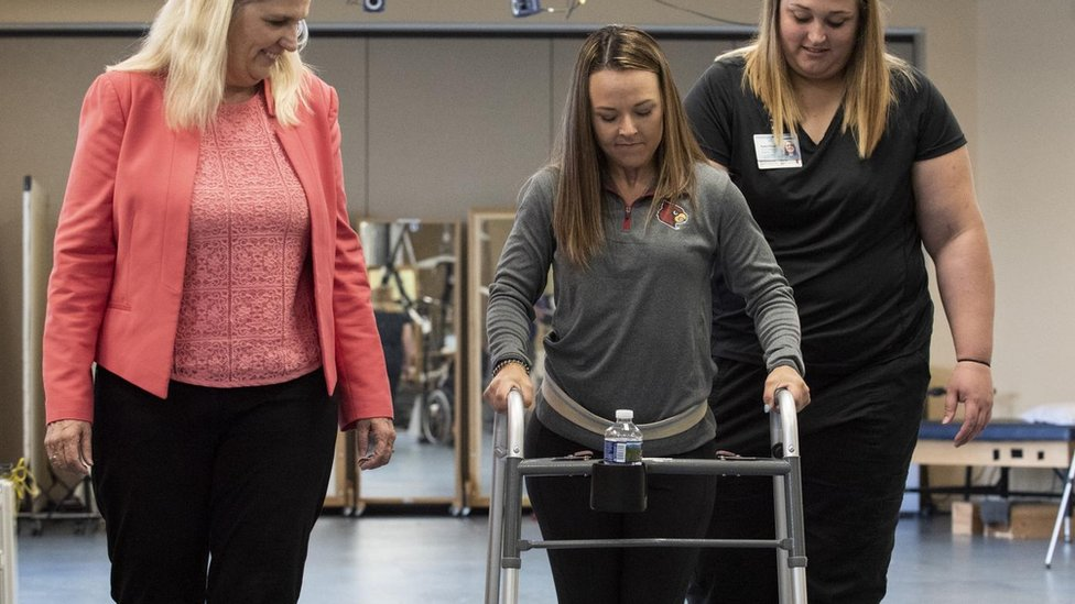 Electrical implant helps paralysed people to walk again