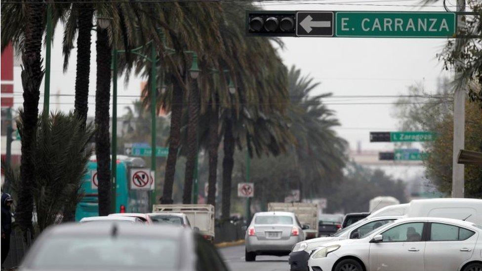 Una calle en Monterrey