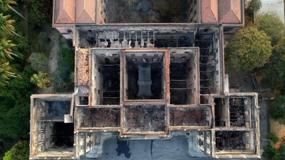Restos del Museo Nacional vistos desde arriba