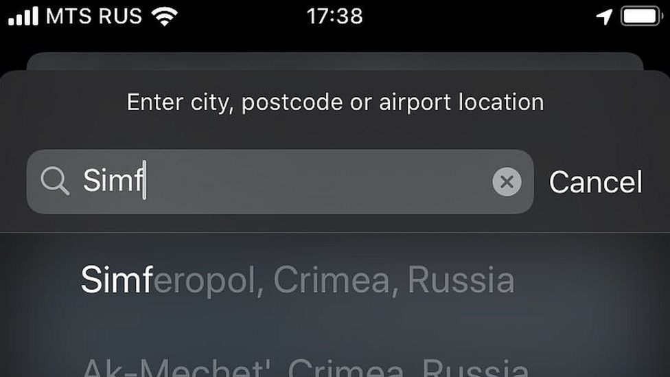 Apple Weather app lists Crimea as part of Russia