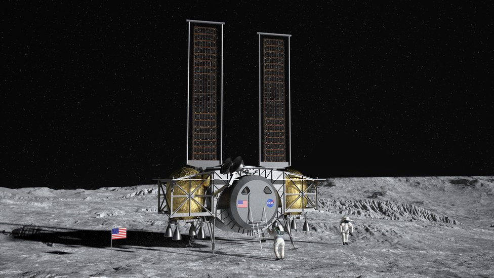 NASA Awards Lunar Lander Contracts to SpaceX, Blue Origin, Dynetics
