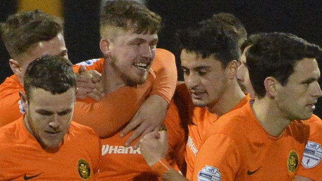 Carrick Rangers celebrated a remarkable 4-3 win over Crusaders