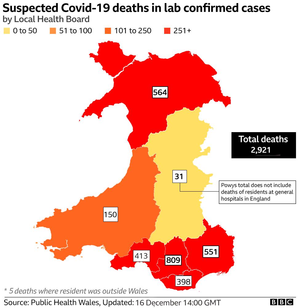 Death map 16 December
