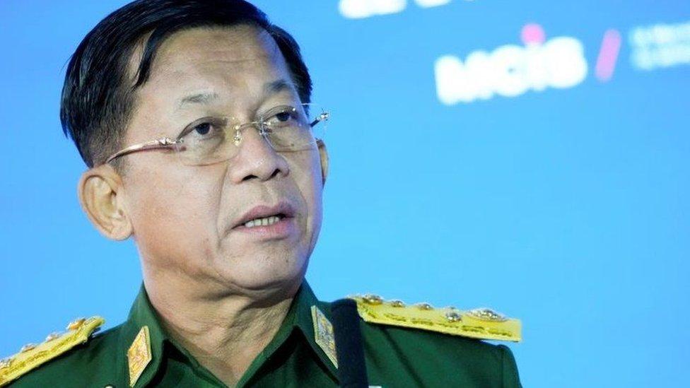 الجنرال مين قائد الانقلاب
