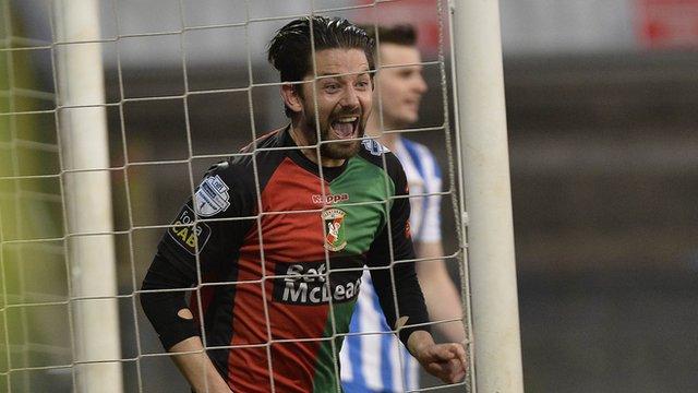 Glentoran striker Curtis Allen