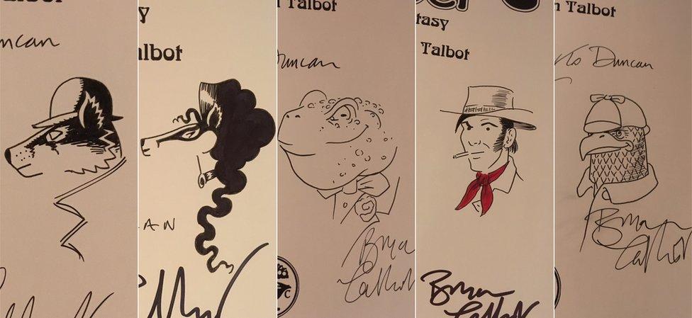 Signed Bryan Talbot books