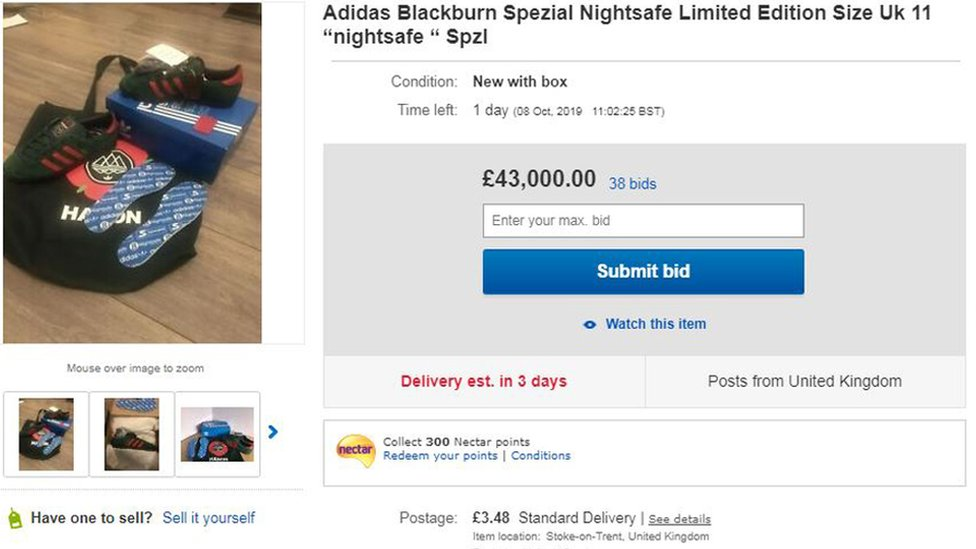 Bids For Limited Edition Adidas Trainers Reach Over 40k Bbc News