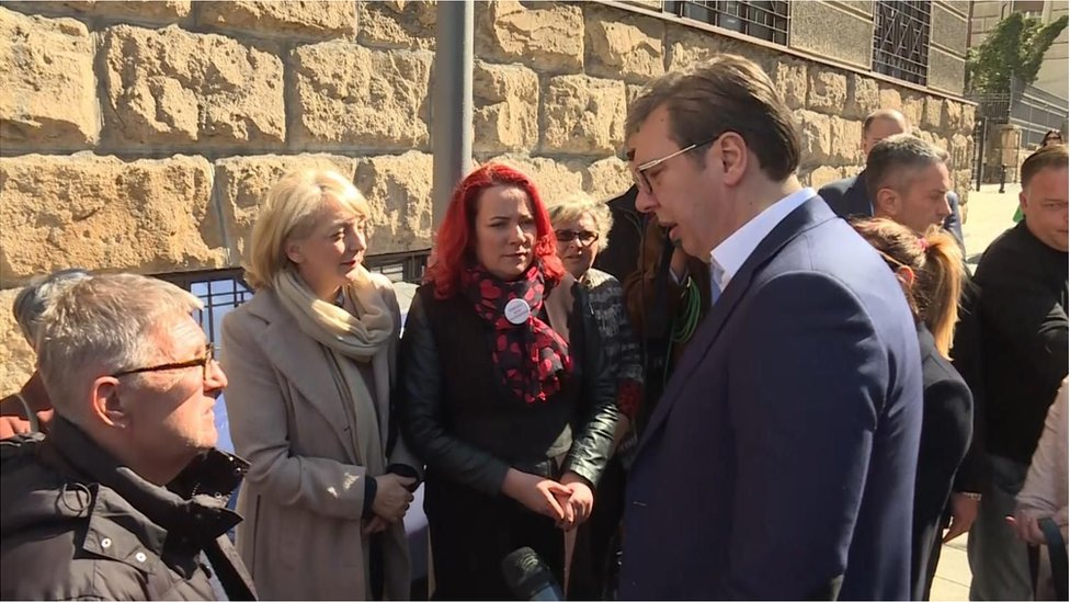 Predsednik Aleksandar Vučić i predstavnici udruženja CHF Srbija