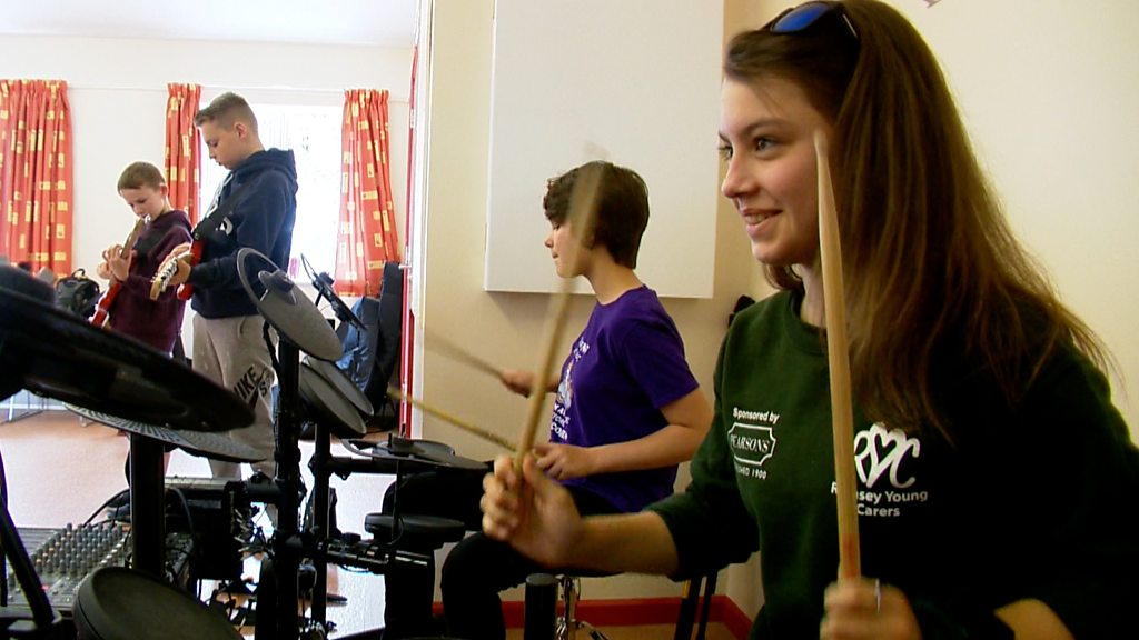 The Romsey young carers using rock music as respite