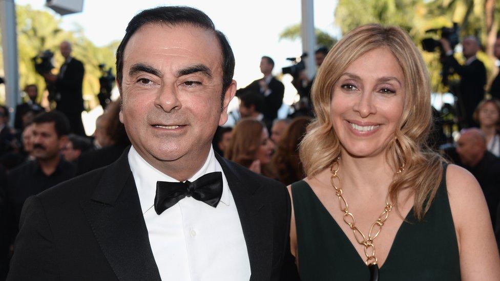 كارول غصن وزوجها كارلوس غصن