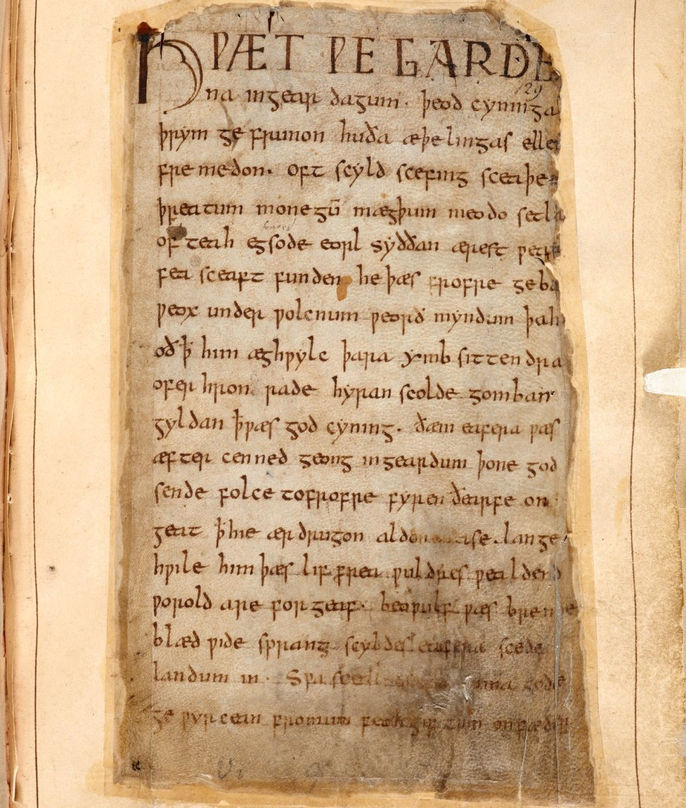 The single surviving manuscript of Beowulf