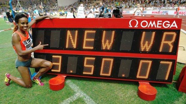 Ethiopa athlete Genzebe Dibaba
