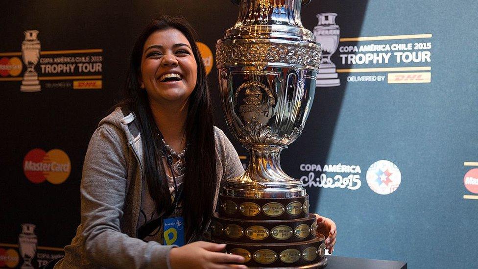 Copa América y una aficionada