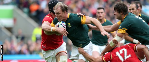 Schalk Burger was voted man of the match