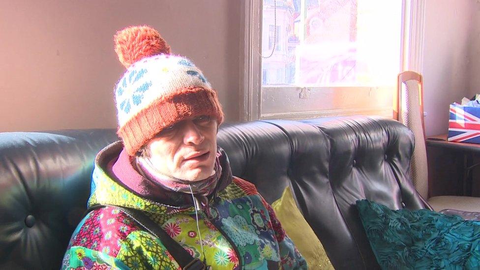 Homeless centre user Jonathan