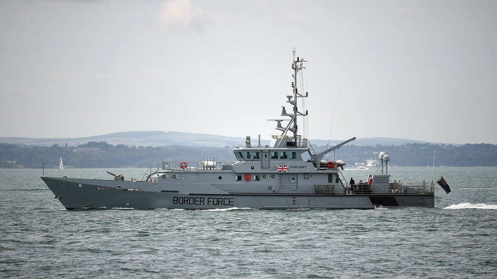 Border Force was deployed to bring the migrants to Dover