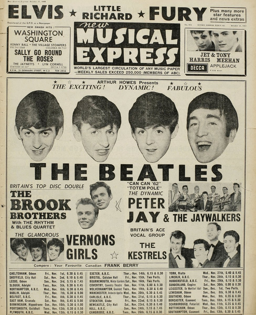 The Beatles' NME cover