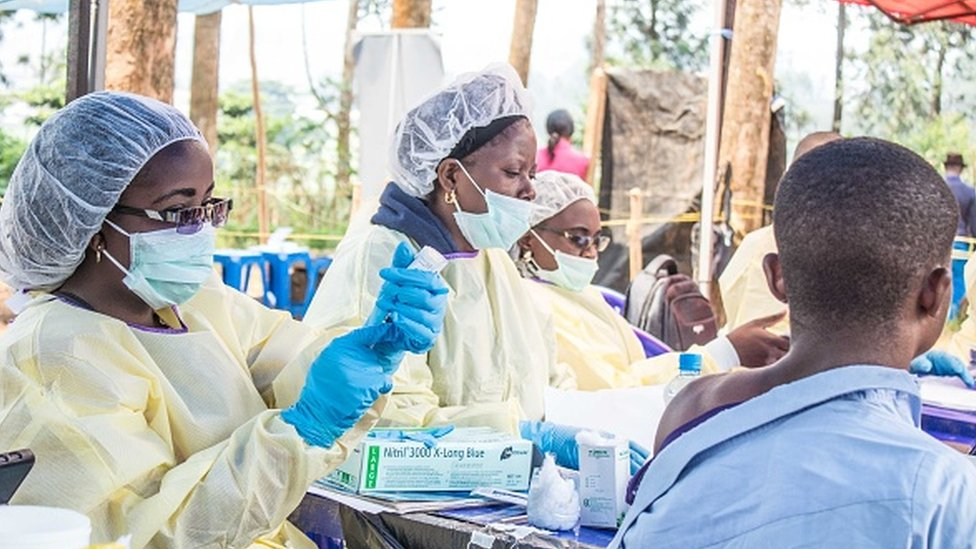 Trabajadores de la salud en Congo