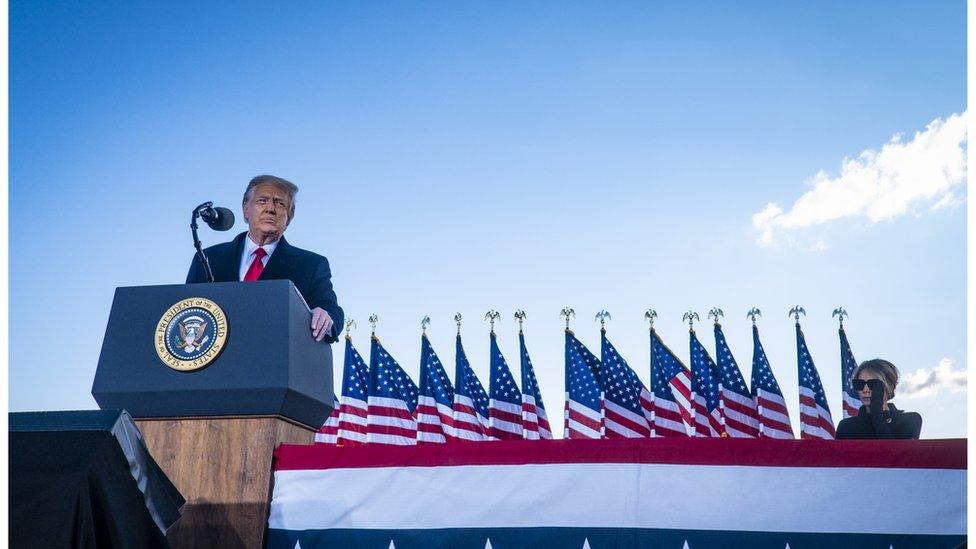 Trump da su último discurso como presidente