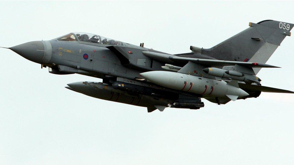 An RAF Tornado in flight