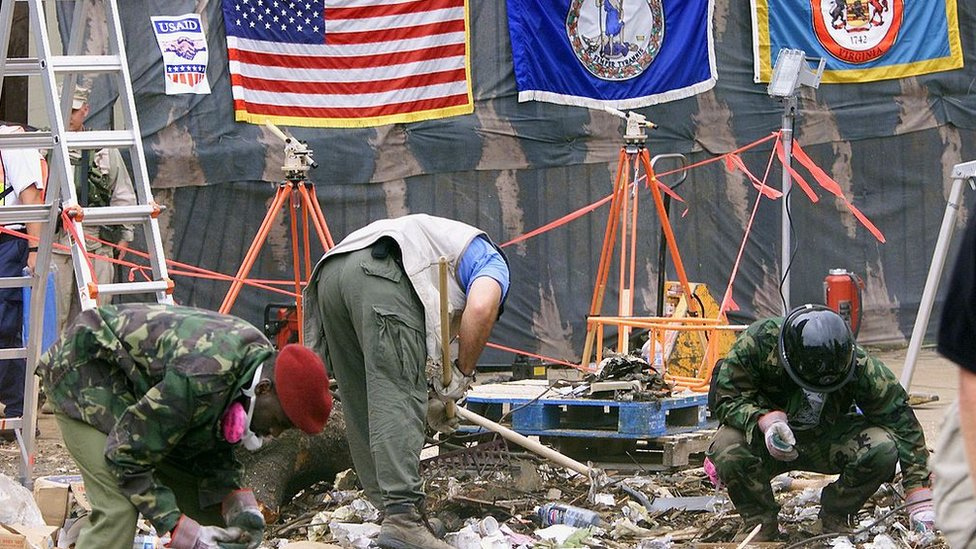 Two attacks on US embassies in Kenya and Tanzania by al-Qaeda killed hundreds in 1998