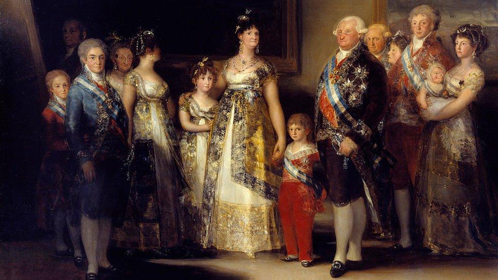 """""""La familia de Carlos IV"""", cuadro de Francisco de Goya"""