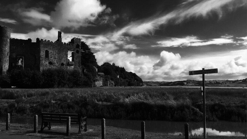 Michael Bianco captured Laugharne Castle