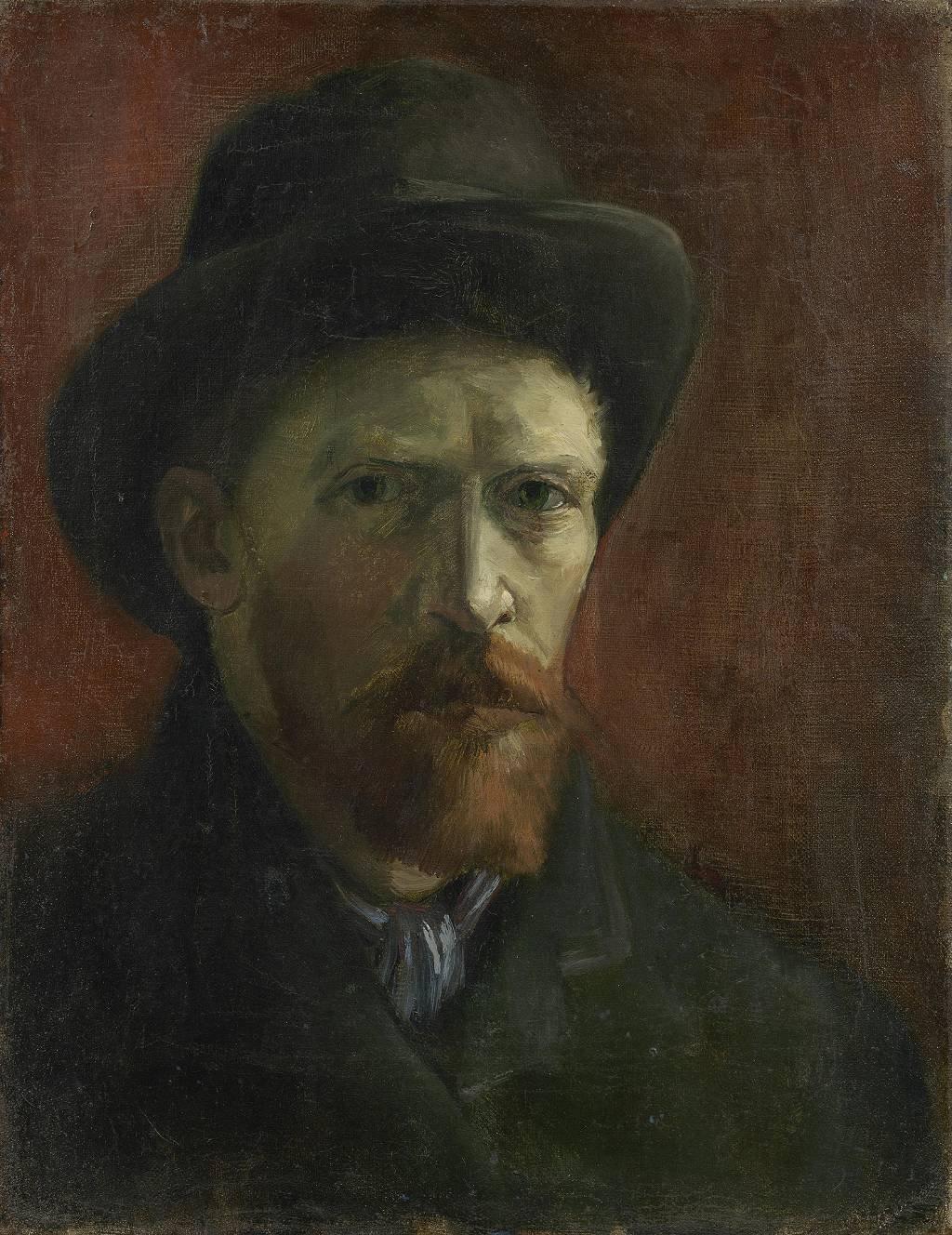 Autorretrato con sombrero de fieltro