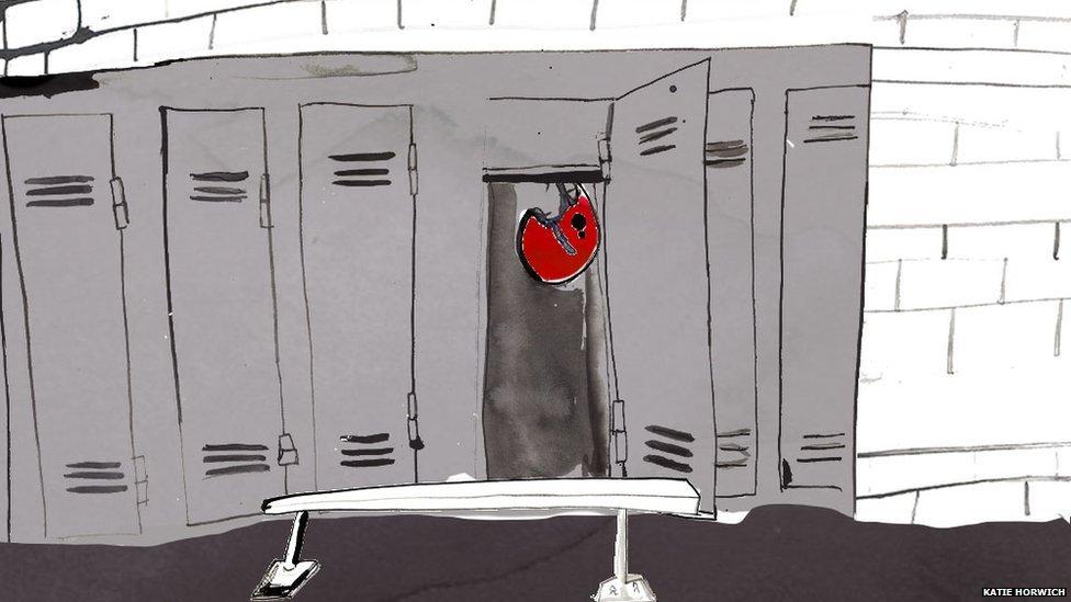 Ilustración de un vestuario