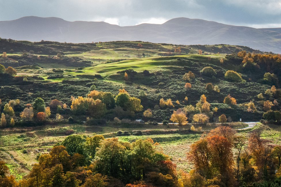 Caterina Mogno from Edinburgh captured this view of the Braid Hills and Pentland Hills from Blackford Hill summit.