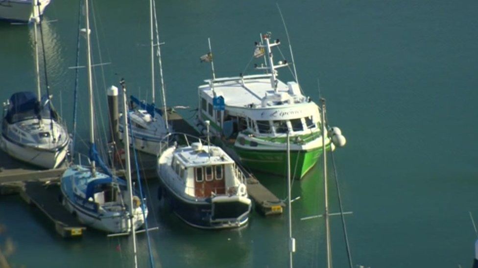 Suspected migrants on 'stolen' fishing boat in Dover