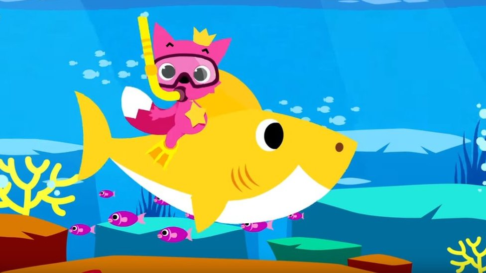 An animation from the Baby Shark Dance video
