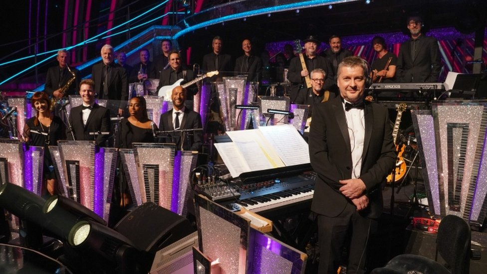 Musical Director Dave Arch and the Strictly band