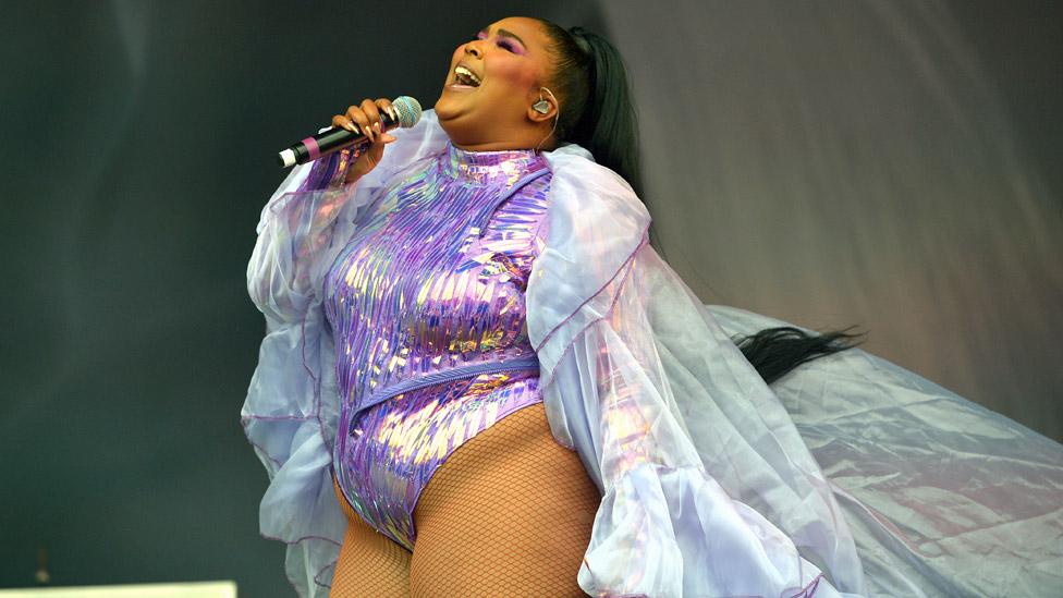 Lizzo at the Glastonbury Festival 2019