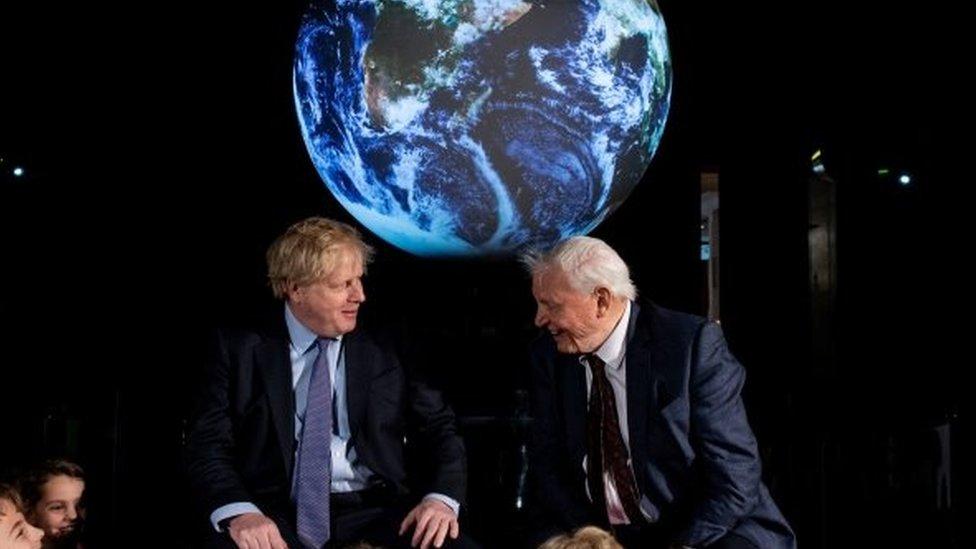 Boris Johnson and David Attenborough
