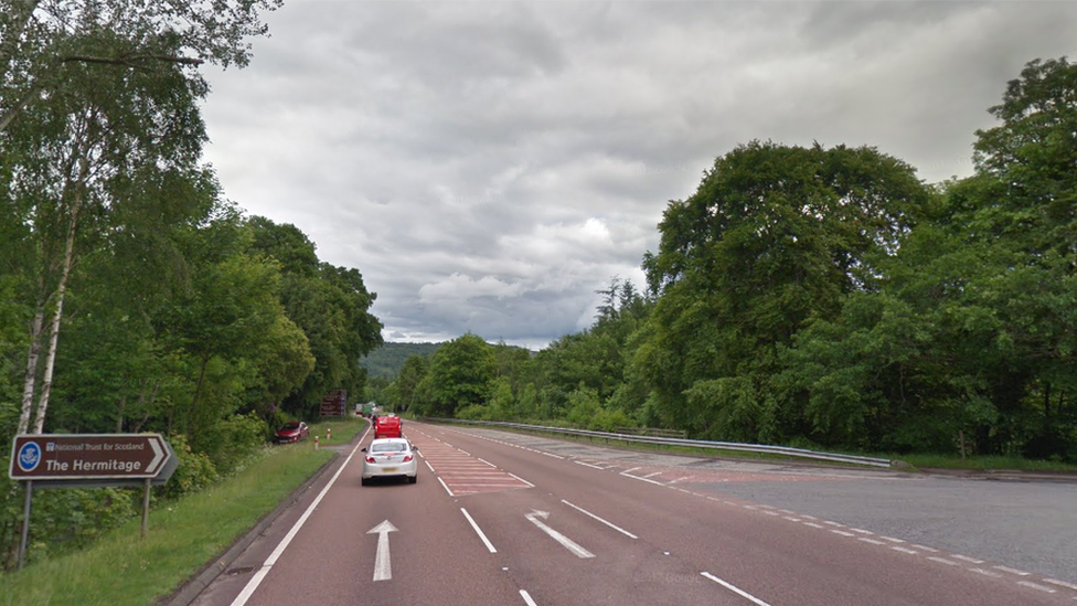 One person killed in three-vehicle crash on A9 near Dunkeld