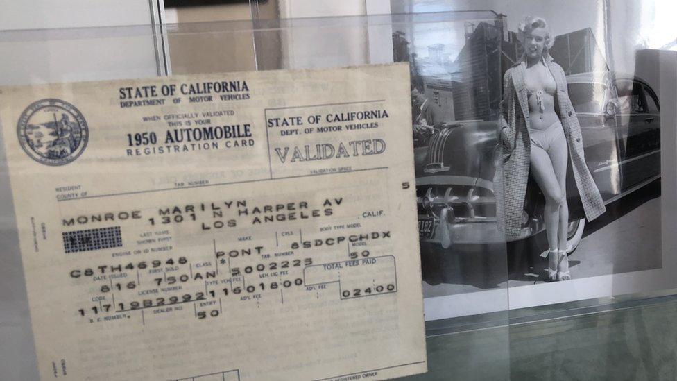 La licencia de conducir de Marilyn Monroe