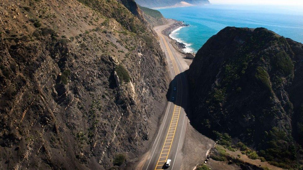 La autopista de la costa Pacífico en California