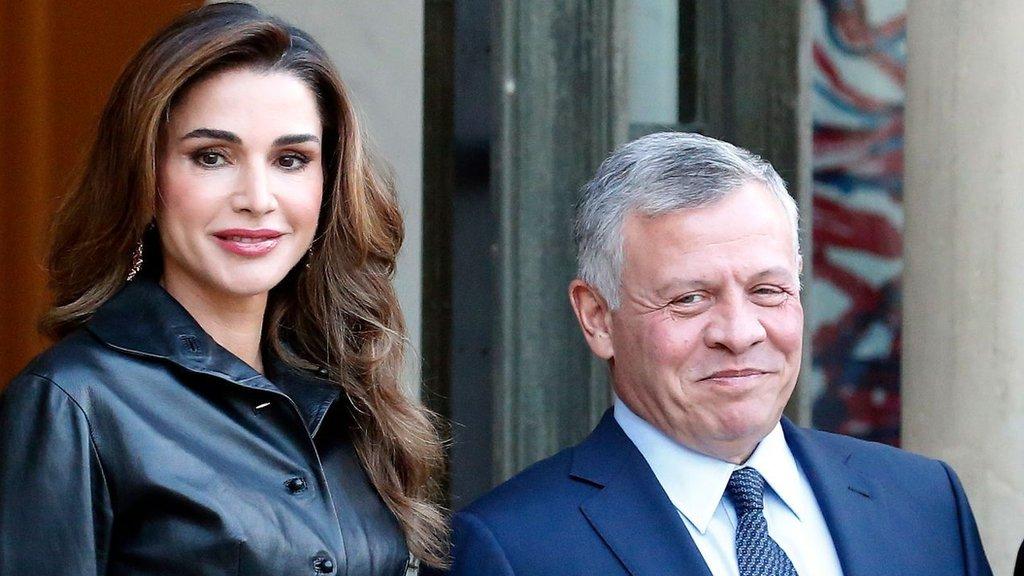 الملك عبد الله بن الحسين والملكة رانيا