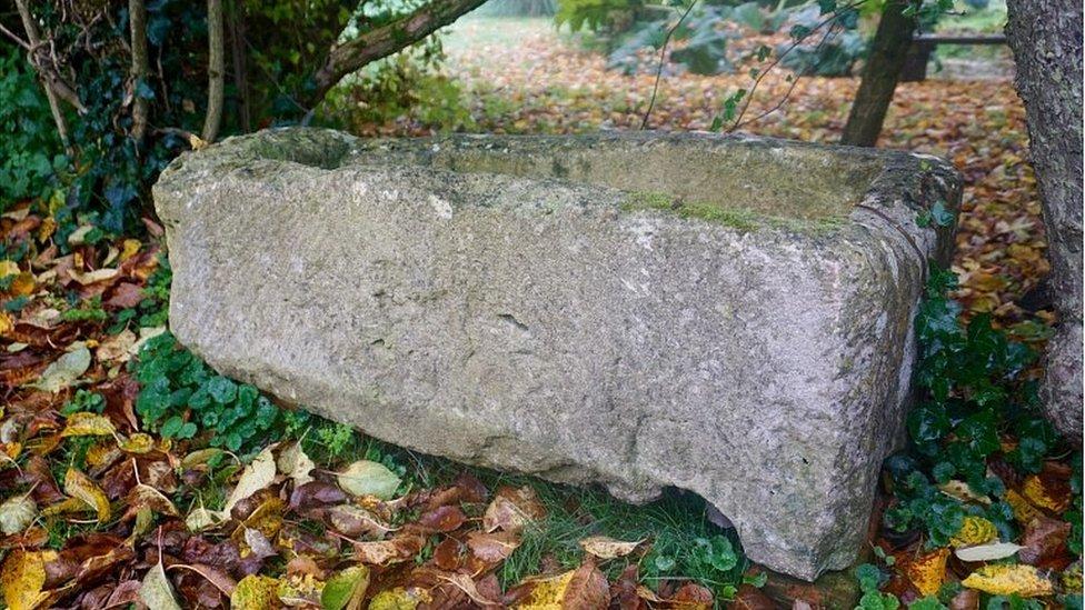 Roman child's coffin, found in Roman Villa discover in Wiltshire