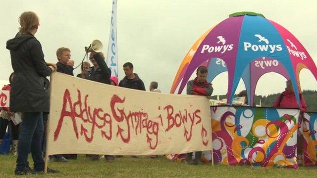 Protest Powys