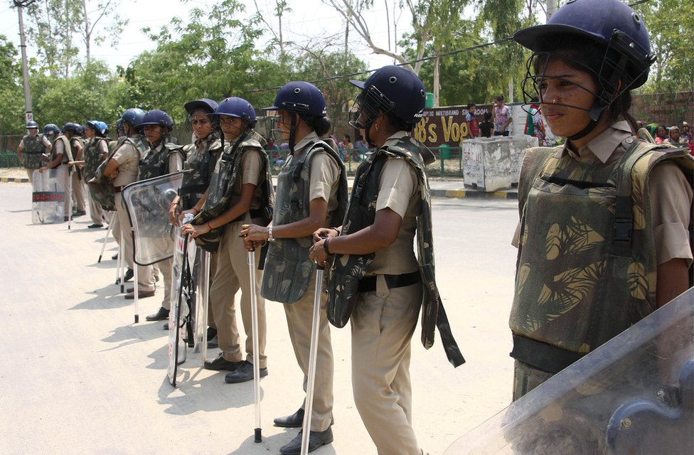 Women paramilitary forces in Chandigarh