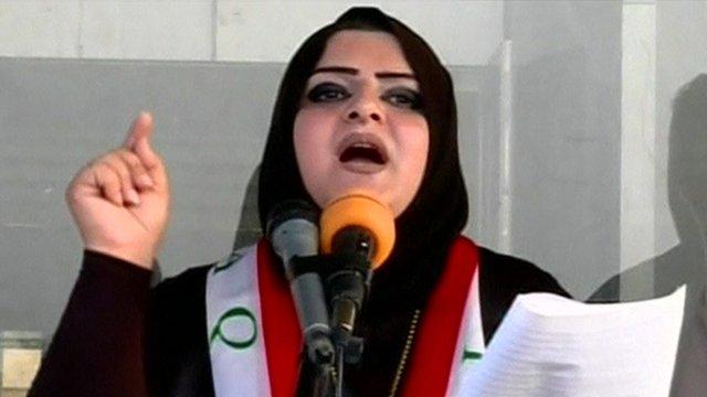 Demonstrator in Iraq